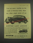 1949 Austin A125 Sheerline Saloon Car Ad - You see more Austins on the roads