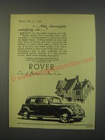 1949 Rover Cars Ad - This thoroughly satisfying car