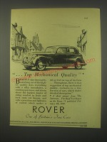 1949 Rover Cars Ad - Top mechanical quality