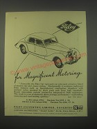 1949 Riley Cars Ad - For magnificent motoring