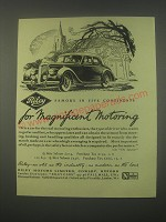 1949 Riley Cars Ad - Famous in five continents for magnificent motoring