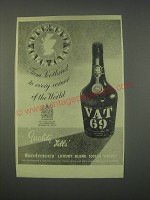1949 Vat 69 Scotch Ad - From Scotland to every corner of the world