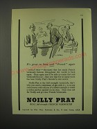 1949 Noilly Prat Vermouth Ad - It's great to have real French again