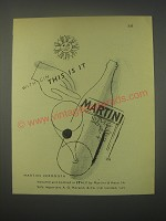 1949 Martini Vermouth Ad - this is It!