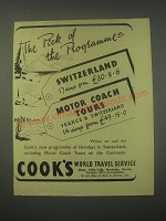 1949 Cook's World Travel Service Ad - The pick of the programmes