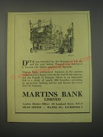 1949 Martins Bank Ad - Deva was founded by the Romans in A.D. 48