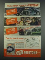 1949 Prestone Anti-Freeze Ad - When safety's a must, it's Prestone