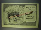 1949 Ovaltine Drink Ad - If only he would take Ovaltine we would all get some
