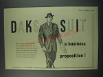 1949 Simpson DAKS Suit Ad - a business proposition