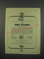 1949 Abbey National Building Society Ad - In the service of thrift for a century