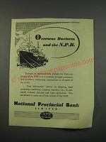 1949 National Provincial Bank Ad - Overseas business and the NPB