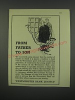 1949 Westminster Bank Limited Ad - From father to son