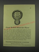 1949 Westminster Bank Limited Ad - Great Britain shows her wares