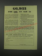 1949 Sun Life Assurance Co. of Canada Ad - £6,933 for you at age 55