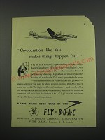 1949 BOAC British Overseas Airways Corporation Ad - Co-operation like this