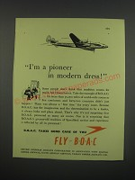 1949 BOAC British Overseas Airways Corporation Ad - I'm a pioneer