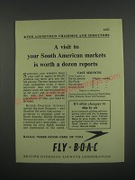 1949 BOAC British Overseas Airways Corporation Ad - A visit to your markets