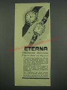 1949 Eterna No.106 and 115 Lady's watches Ad - Eterna protected precision