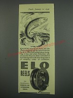 1949 Elo Fishing Reels Ad - Salmon records are many