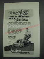 1949 Jacobsen Estate 24 Mower Ad - Velvet-smooth and quick that's grass-cutting