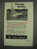 1949 Old Town Boats Ad - Sturdy Sailor