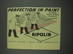 1949 Ripolin Paint Ad - Perfection in Paint