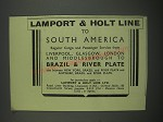 1949 Lamport & Holt Line Cruise Ad - Lamport & Holt Line to South America