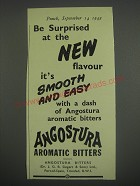 1949 Angostura Aromatic Bitters Ad - Be surprised at the new flavor it's smooth