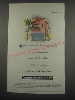 1991 Raynor Decade Garage Doors Ad - 10 years, seven cars (five domestic, two imports)
