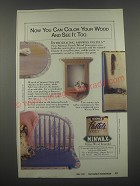 1991 Minwax Pastels Wood Stain Ad - Now you can color your wood and see it, too