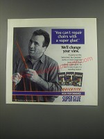 1991 Quicktite Super Glue Ad - You can't repair chairs with a super glue! We'll change your view