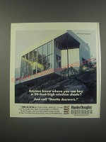 1991 Hunter Douglas Duette Window Fashions Ad - Anyone know where you can buy a 35-foot-high window shade?