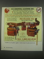 1991 Occidental Leather Pro-Framer 5080 Tool Belt Ad - Occidental Leather Inc.