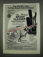 1991 General Pencil Co. The Masters Brush Cleaner and Preserver Ad - The world's only total brush care product