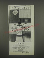 1991 Gamblin Artists' Oil Colors Ad - Fine Oils