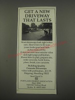 1991 Portland Cement Association Ad - Get a new driveway that lasts