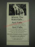 1991 Brevard/Transylvania County, NC Ad - Where the waterfalls.. And falls..