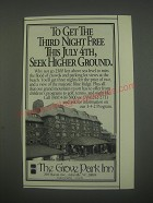 1991 The Grove Park Inn, Asheville, NC Ad - Seek Higher Ground