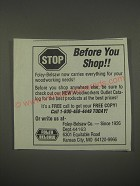 1991 Foley Belsaw Ad - Stop Before you shop!!