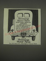 1991 Hemmings Motor News Advertisement