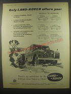 1958 Land-Rover Canvas Top Truck Ad - Only Land-Rover offers you: