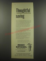 1958 Abbey National Building Society Ad - Thoughtful saving