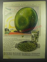 1937 Green Giant Peas Ad - Profile of Green Giant Pea No. S - 537
