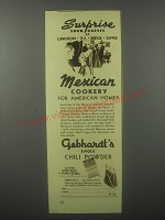 1935 Gebhardt's Chili Powder Ad - Surprise your guests at Luncheon