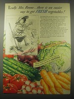 1941 Safeway Produce Ad - Really, Mrs. Boone There is an easier way
