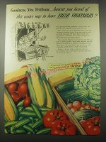 1941 Safeway Produce Ad - Goodness, Mrs. Pettibone