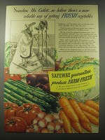 1941 Safeway Produce Ad - Somehow, Mrs. Catlett