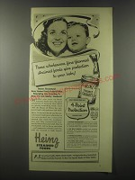 1941 Heinz Strained Carrots Ad - These wholesome, fine-flavored strained foods
