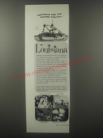 1963 Louisiana Tourism Ad - Festivals are the fashion this fall