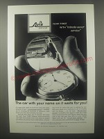 1960 Avis Rent a Car Ad - The car with your name on it waits for you